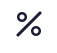 ícone percentual